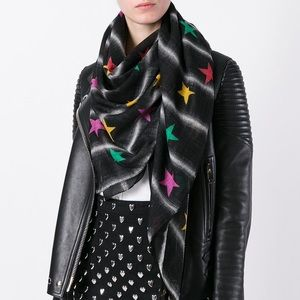 Saint Laurent tribute Etoiles ⭐️ Scarf